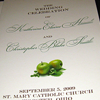 Kate and Chris – Wedding Programs