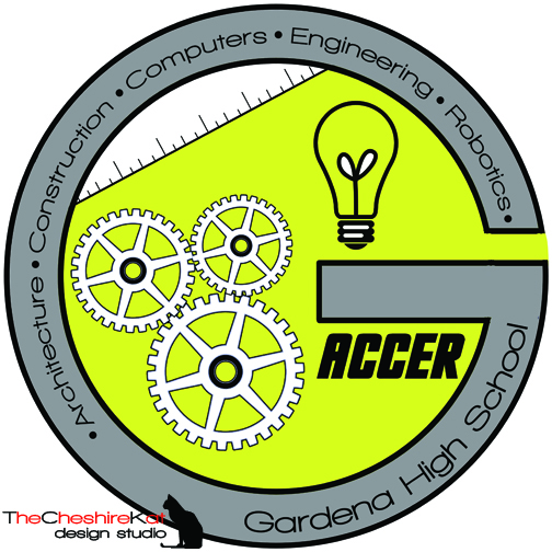 Logo Design for ACCER - the gears, ruler, and light bulb can all be relevant in the different fields of Architecture, Construction, Computers, Engineering, and Robotics.
