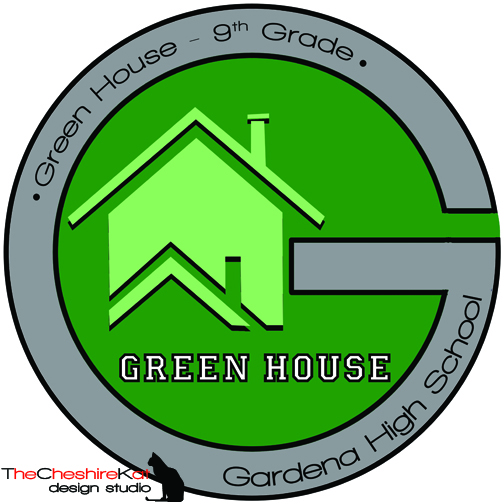 Logo Design for Green House - this SLC was already designated and implemented prior to the formation of the others, and its focus is on preparing the incoming 9th grade class for success throughout high school.