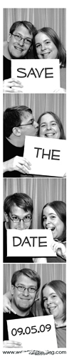 The detachable magnet with four photobooth-style shots of Kate and Chris