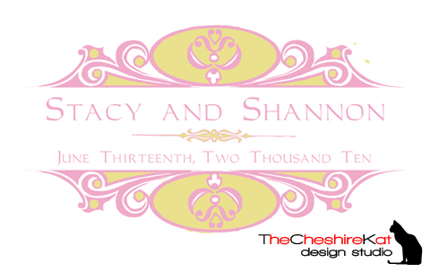 Monogram #1 - the colors look different on screen, but it prints out as a lovely rose pink/beige combination.