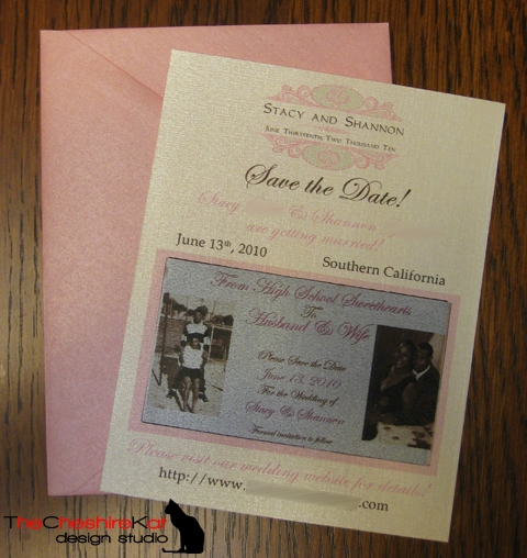 The card, with the attached magnet and coordinating envelope.